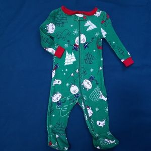 3-6M Hockey Onesie Green Woodland Animals Joe Fres